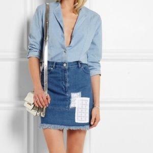 House of Holland Patchwork Denim Skirt
